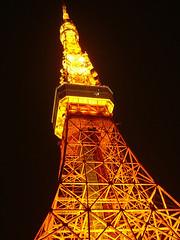 La Torre de Tokio o Tokyo Tower (en japonés: 東京タワー, Tōkyō Tawā) es una torre que se encuentra en Minato-ku (Tokio, Japón). Su diseño está basado en el de la Torre Eiffel de París. Esta pintada en blanco y rojo de acuerdo a regulaciones de aviación. Su construcción fue terminada el 14 de Octubre de 1958 (Showa 33) y fue abierta al público el 7 de Diciembre del mismo año.  La torre mide 333 metros de altura, 9 más que la Torre Eiffel, con lo que es la torre de metal más alta del mundo, aunque probablemente no es tan vistosa como aquélla.