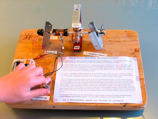 Flickr photo sharing for Simple electric motor science project