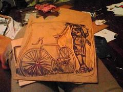 Justin Bike Linocut