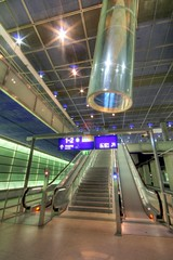 subway, escalator, airport terminal, infrastructure,