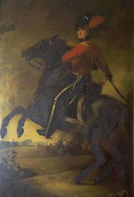 Detail of a painting of Lt Colonel Sir James Gardiner Baird