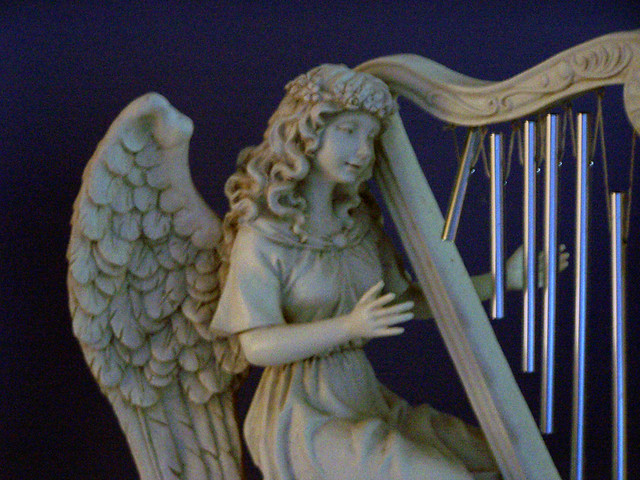 angel with harp flickr photo sharing
