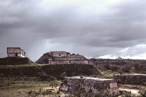 clouds over Uxmal