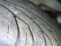 automotive tire, synthetic rubber, tread, close-up,