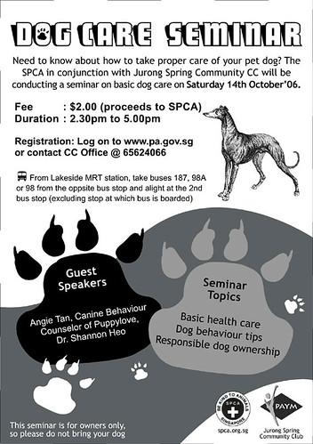SPCA Seminar Poster
