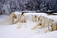 Upper Tahquamenon Falls-Winter by James Marvin Phelps