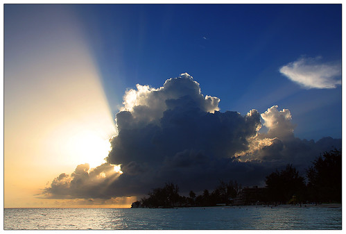 blue sunset sea sky yellow clouds canon wow eos 350d photo barbados caribbean sunrays canoneos350d 1on1 westindies thecontinuum 2for2 lonelyobjectsgroup datsevolution