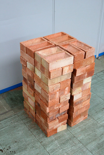 pile of bricks ready for laying