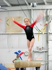 floor gymnastics(0.0), rings(0.0), balance beam(1.0), sports(1.0), gymnastics(1.0), gymnast(1.0), artistic gymnastics(1.0),