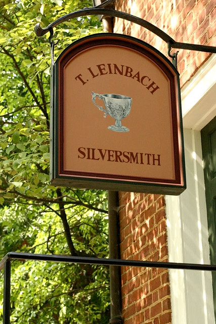 Silversmith sign