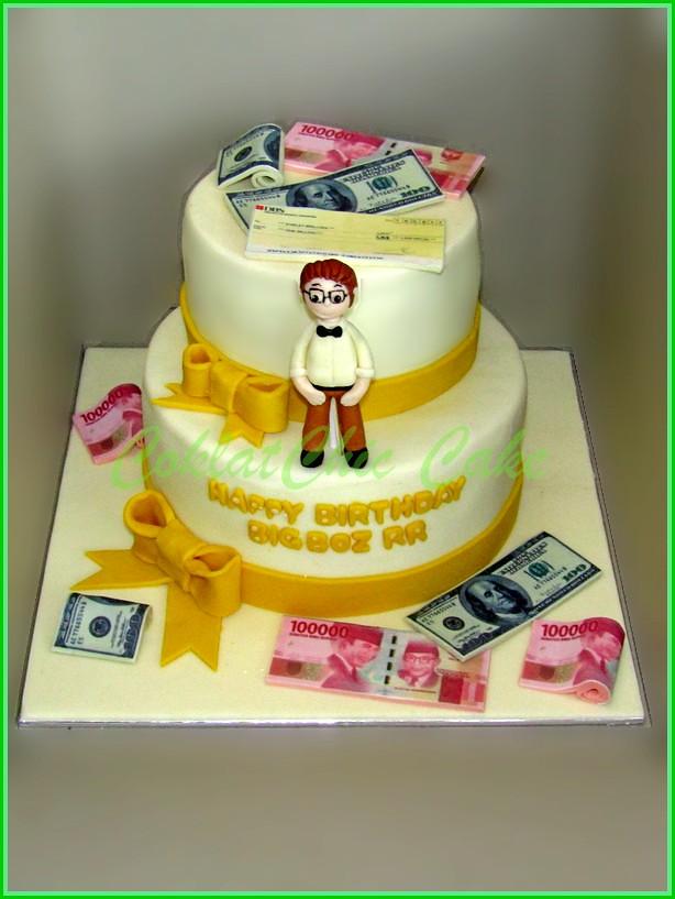 Cake Uang dan Cheque BIG BOZ RR 15 dan 12 cm