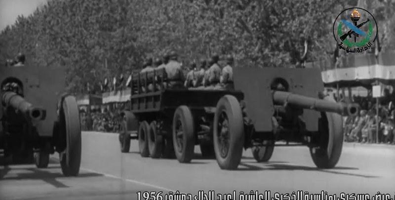 Canon-de-105-L-M1936-Schneider-parade-syria-1956-sdyt-2