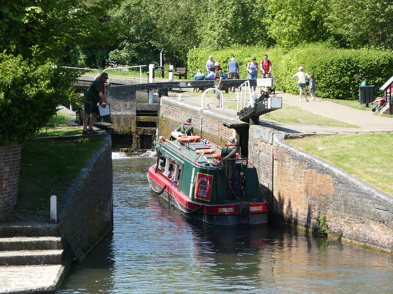 Jubilee Narrowboat, Newbury Lock, Kennet & Avon Canal