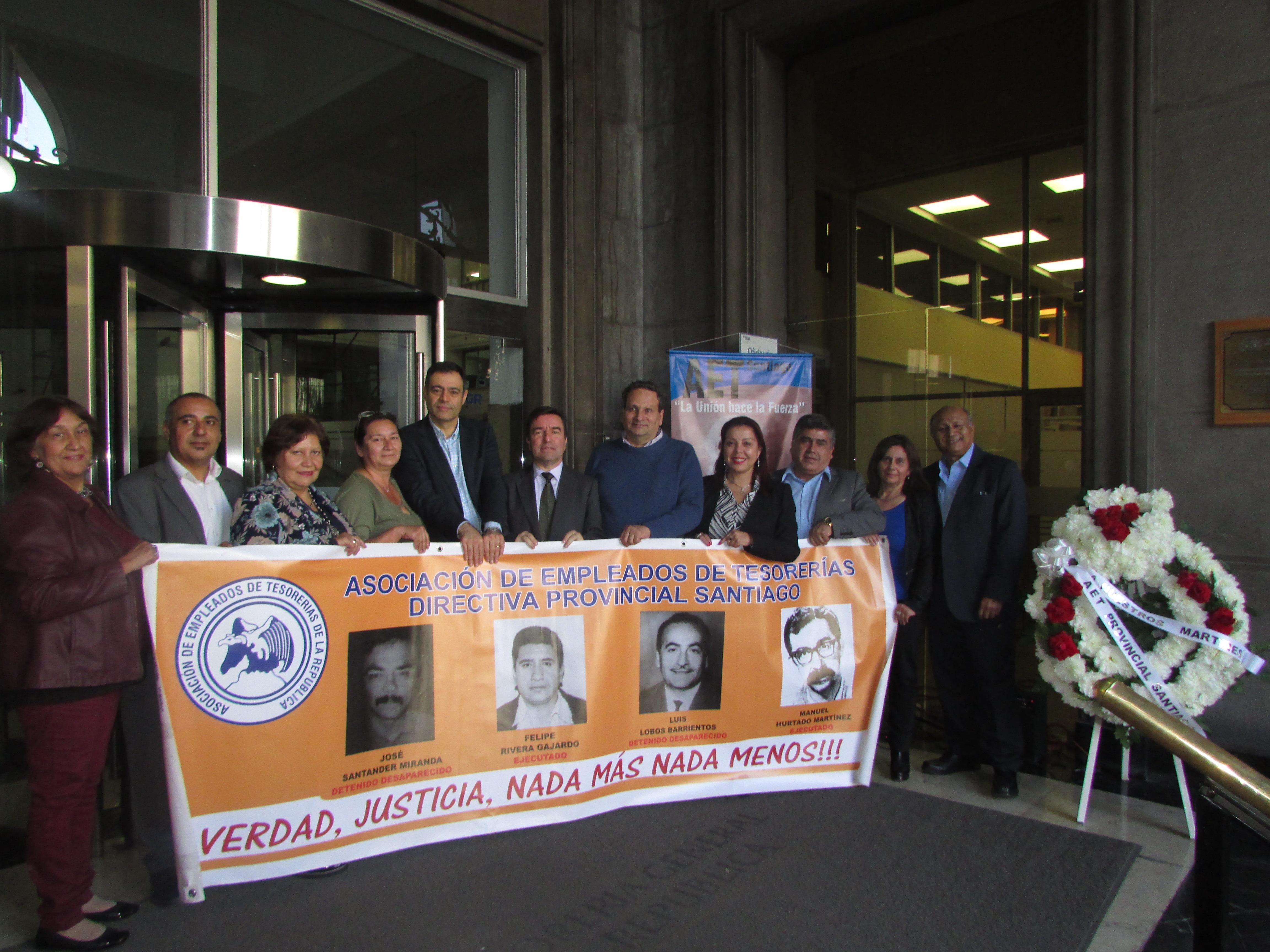 AET Nacional y AET Santiago conmemora a a los mártires de la TGR, víctimas la Dictadura de Militar - 24 Abril 2018