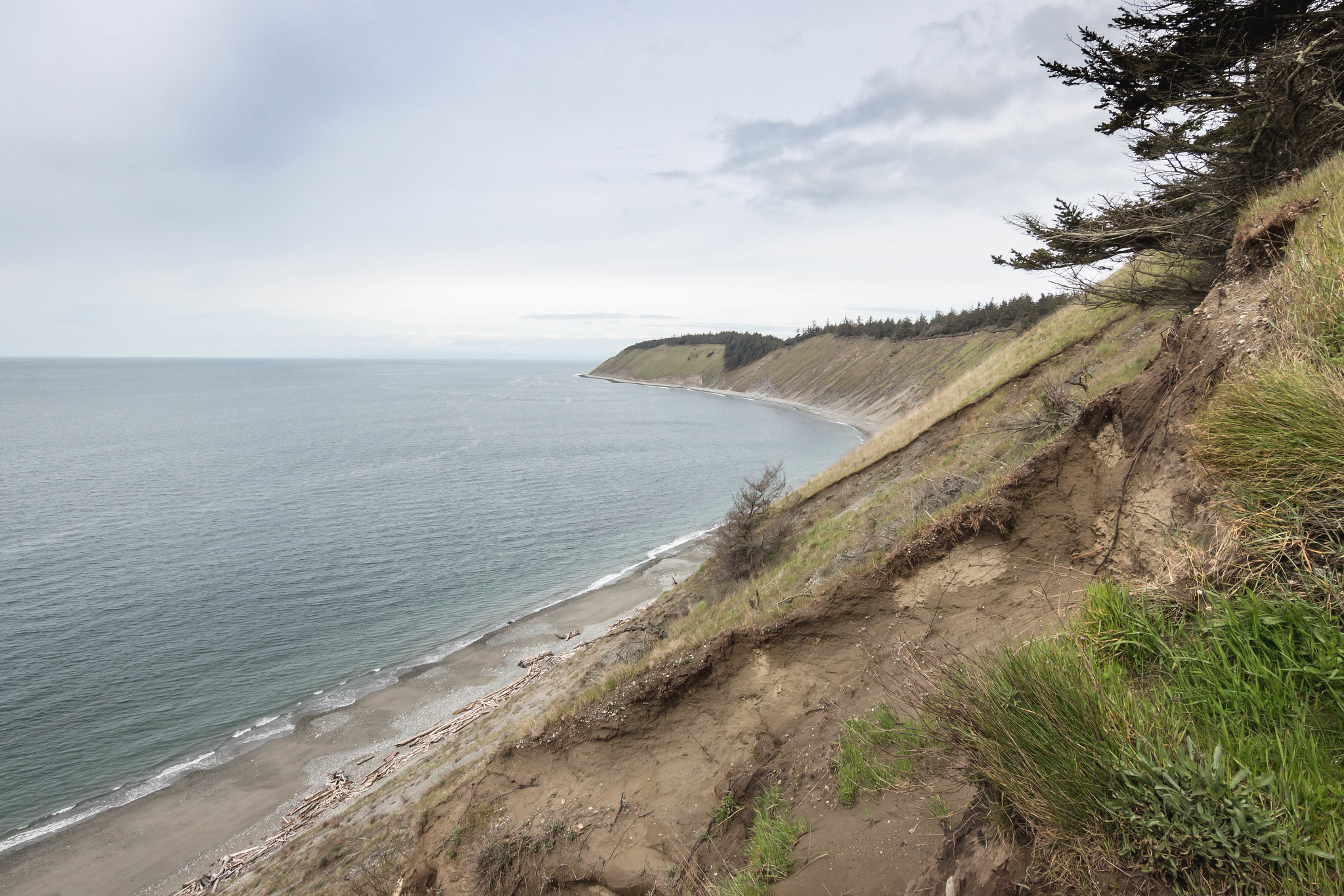 Fort Ebey State Park to the north