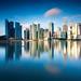 Building with reflection, Marina bay, Singapore