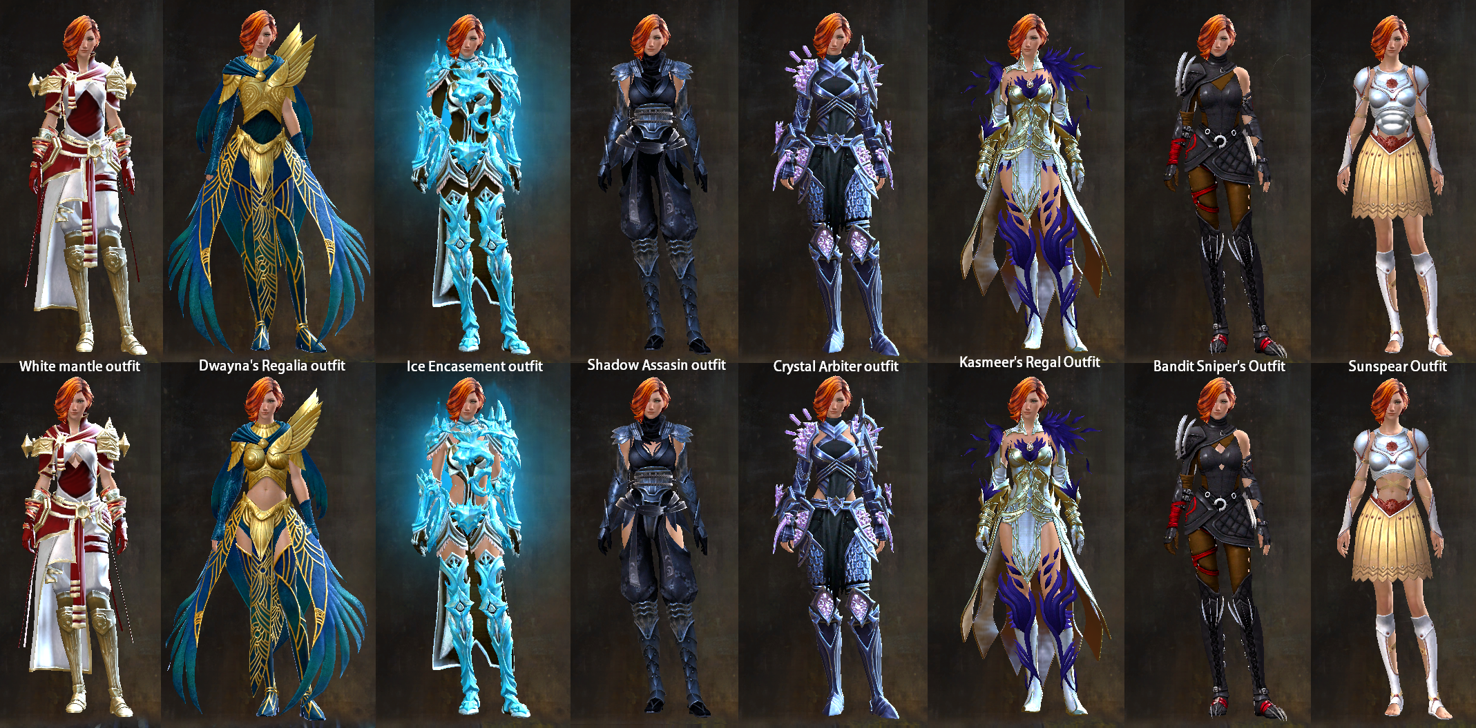 Imagine female outfits : Guildwars2