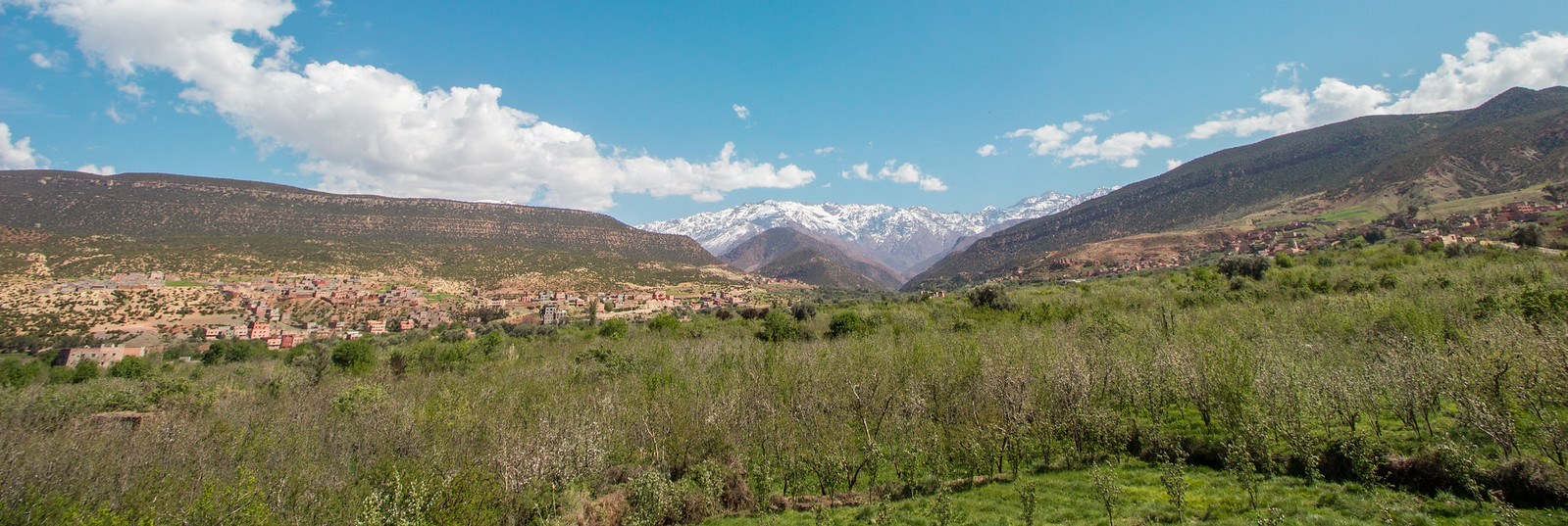 View across the Imlil valley towards Toubkal from Asni.