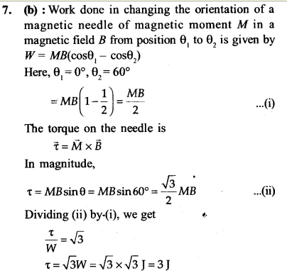 NEET AIPMT Physics Chapter Wise Solutions - Magnetism and Matter explanation 7
