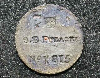 S.B Pulaski metal tag