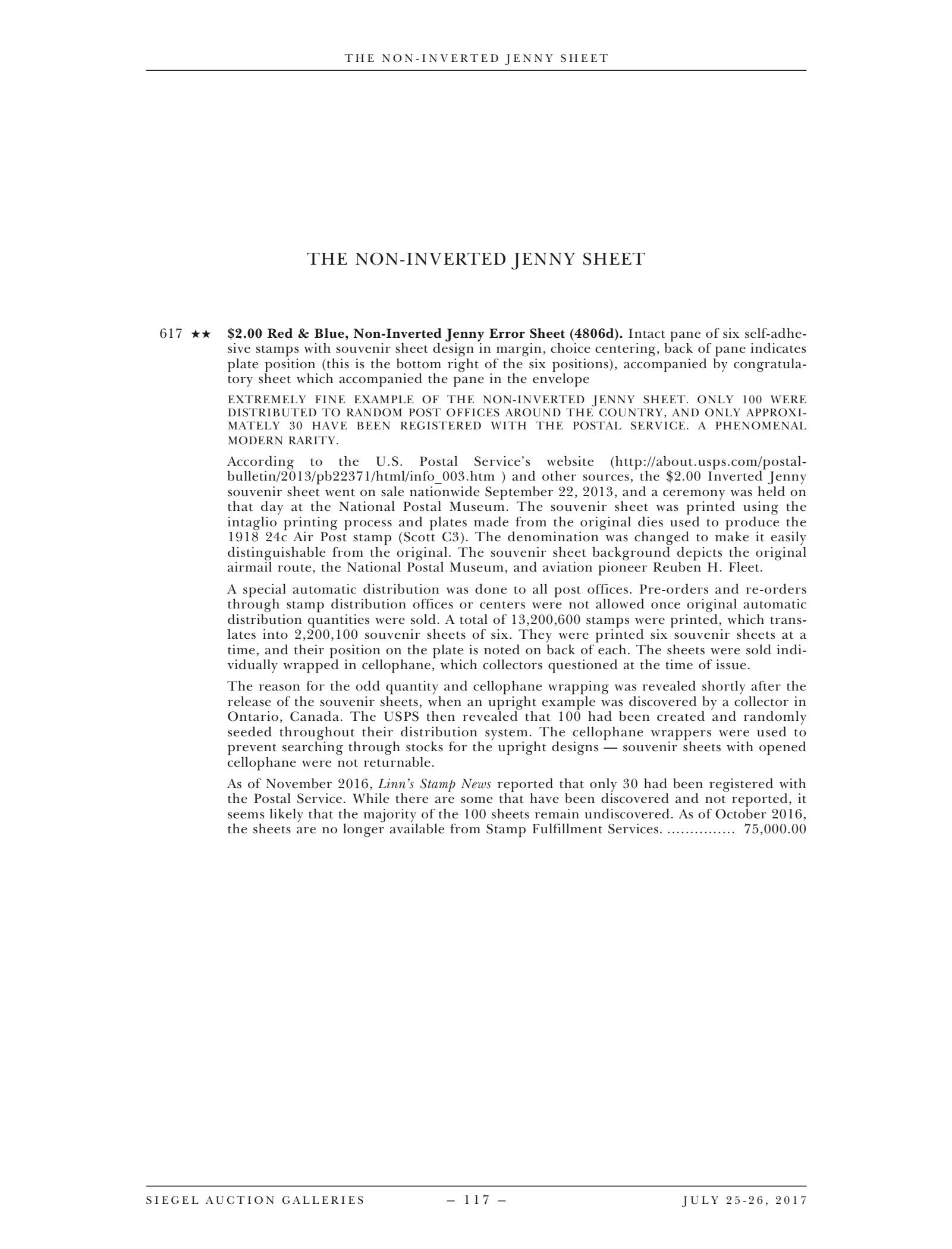 Description page for the