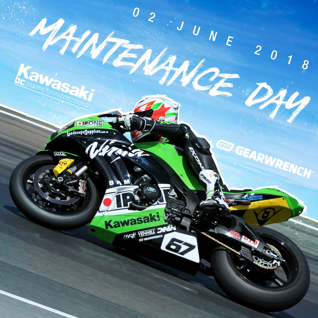 KAWASAKI DEALER EVENT – Kawasaki BCperformance Racing Team Maintenance Day – 2nd June