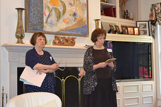 ScholarshipTea2017-2018_0023: Scholarship Committee Chair Beverly Kestenis, and Club President Florence Begun