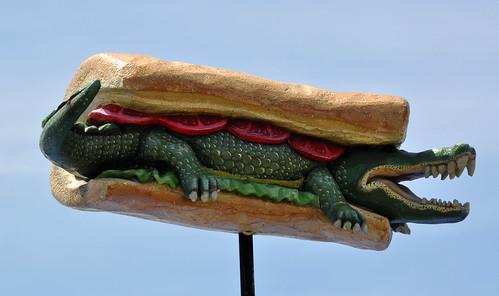 Alligator PoBoy sign