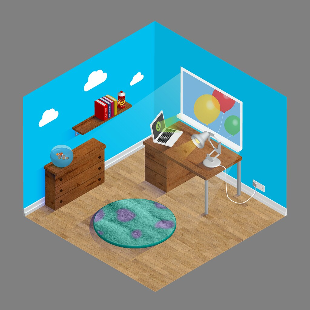 Pixar Style Home Office