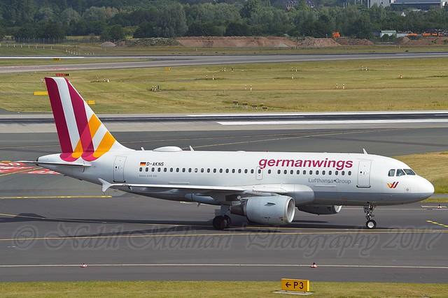 Germanwings D-AKNS Airbus A319-112 cn/1277 @ EDDL / DUS 16-06-2017