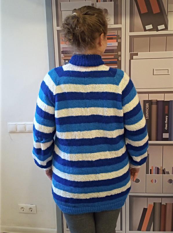 Полосатый свитер регланом сверху вниз | HoroshoGromko.ru