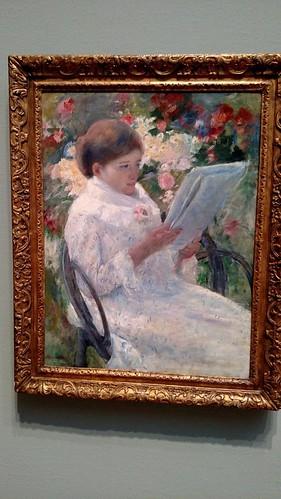 Chicago Art Institute Mary Cassatt Woman reading