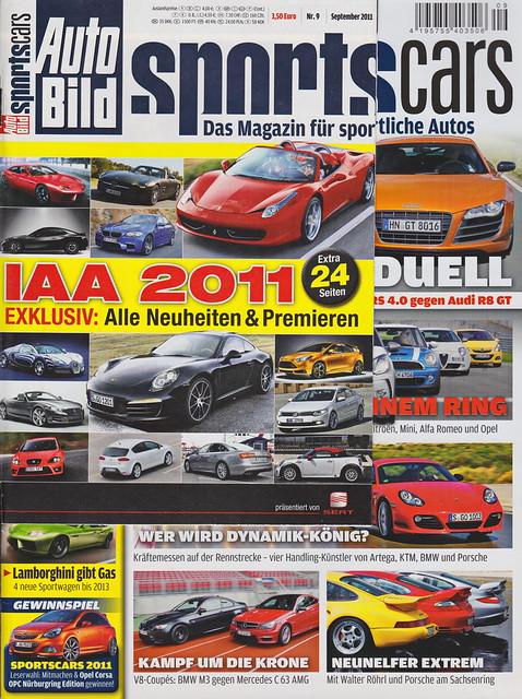 Auto Bild Sportscars 9/2011