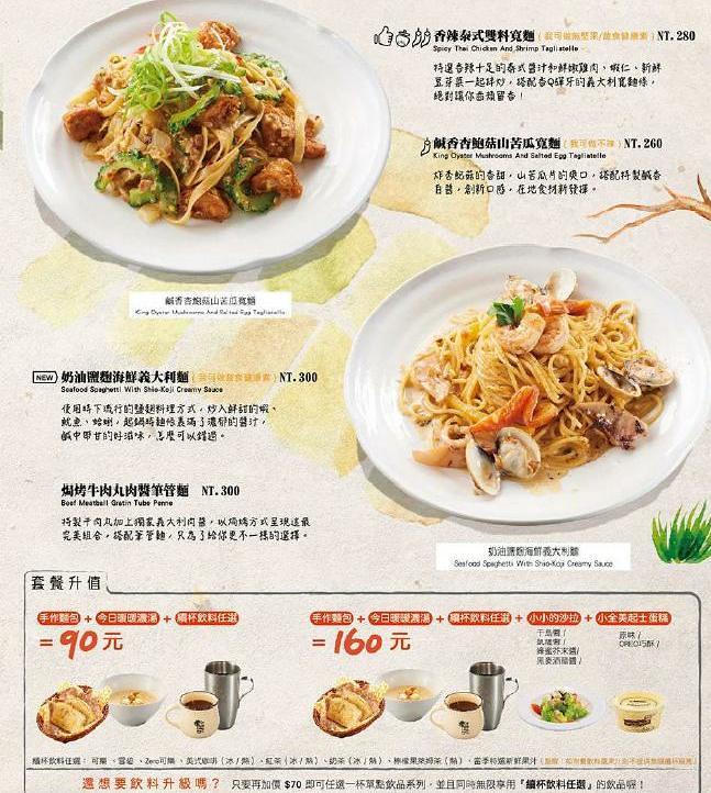 貳樓餐廳早午餐義大利麵甜點菜單menu訂位 (3)
