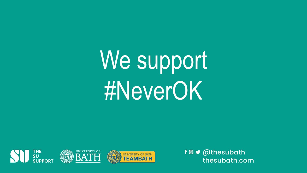 #NeverOK campaign logo reading