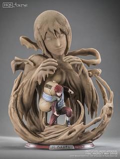 """「你的母親一直都很愛你。」Tsume-Art HQS 系列《火影忍者疾風傳》我愛羅 Gaara """"A father's hope, a mother's love"""" 1/8 比例場景雕像作品"""