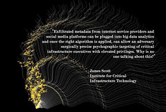 """""""#Exfiltrated #metadata from #internetserviceproviders and #socialmedia platforms can be plugged into #bigdata #analytics... psychographic targeting of #criticalinfrastructure executives with elevated privileges. Why is no one talking about this?"""""""
