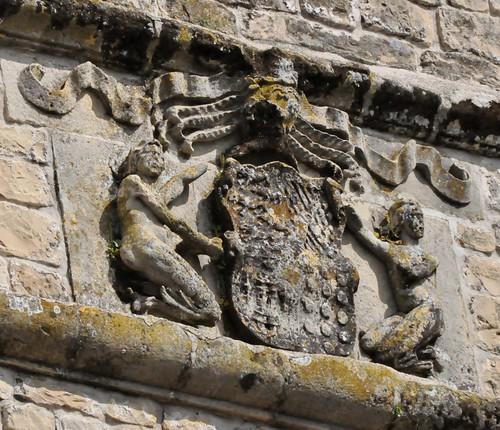 Canena (Jaén-España). Castillo de los marqueses de Camarasa. Escudo de los marqueses de Camarasa