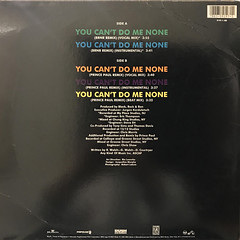 BLACK ROCK & RON:YOU CAN'T DO ME NONE(JACKET B)