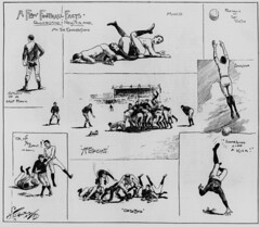 A few football facts  Queensland vs. New Zealand Rugby Union match at the Brisbane Exhibition Grounds 1893