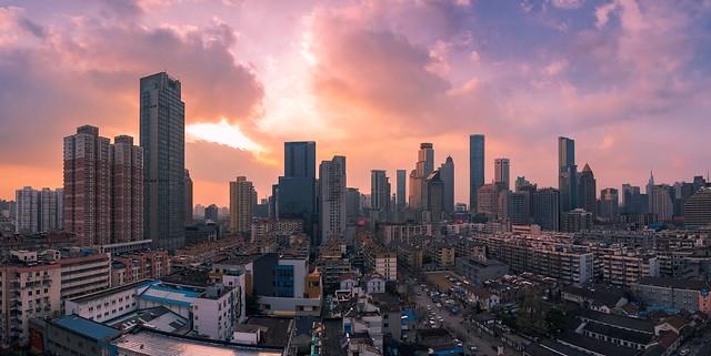 Skyline Panorama of Urban Nanjing City