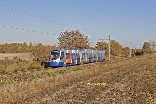 Tram Train Rame 24 Train 832644 Mulhouse-Thann Gare à Cernay