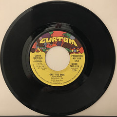 CURTIS MAYFIELD:ONLY YOU BABE(RECORD SIDE-A)