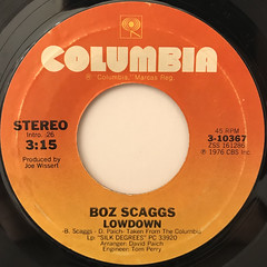 BOZ SCAGGS:LOWDOWN(LABEL SIDE-A)