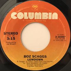 BOZ SCAGGS:LOWDOWN(LABEL SIDE-A)