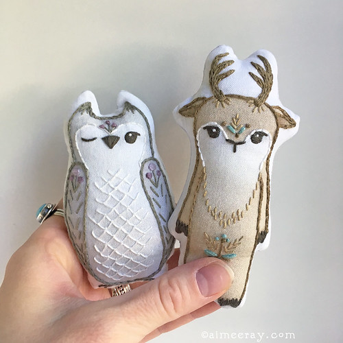 embroidered animal doll kits