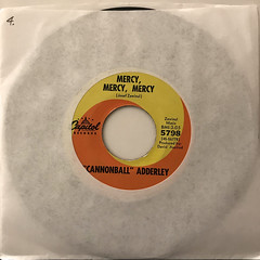 CANNNONBALL ADDERLEY:MERCY, MERCY, MERCY(JACKET A)