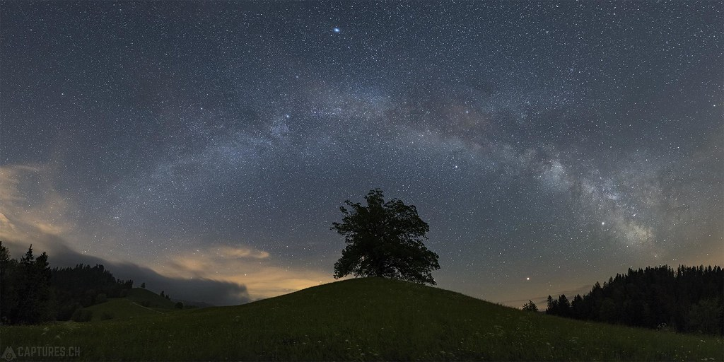 The tree under the Milky way - Oberrämis