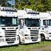 Line-up of TDR Transport Services Scania Trucks Peterborough Truckfest 2018