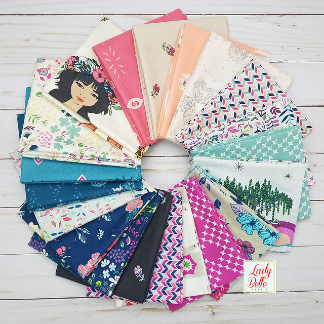A Community Sampler Giveaway with Lady Belle Fabrics!